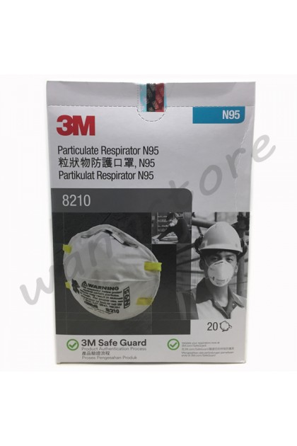 Pcs 20 8210 Particulate box Mask N95 Face Respirator 3m